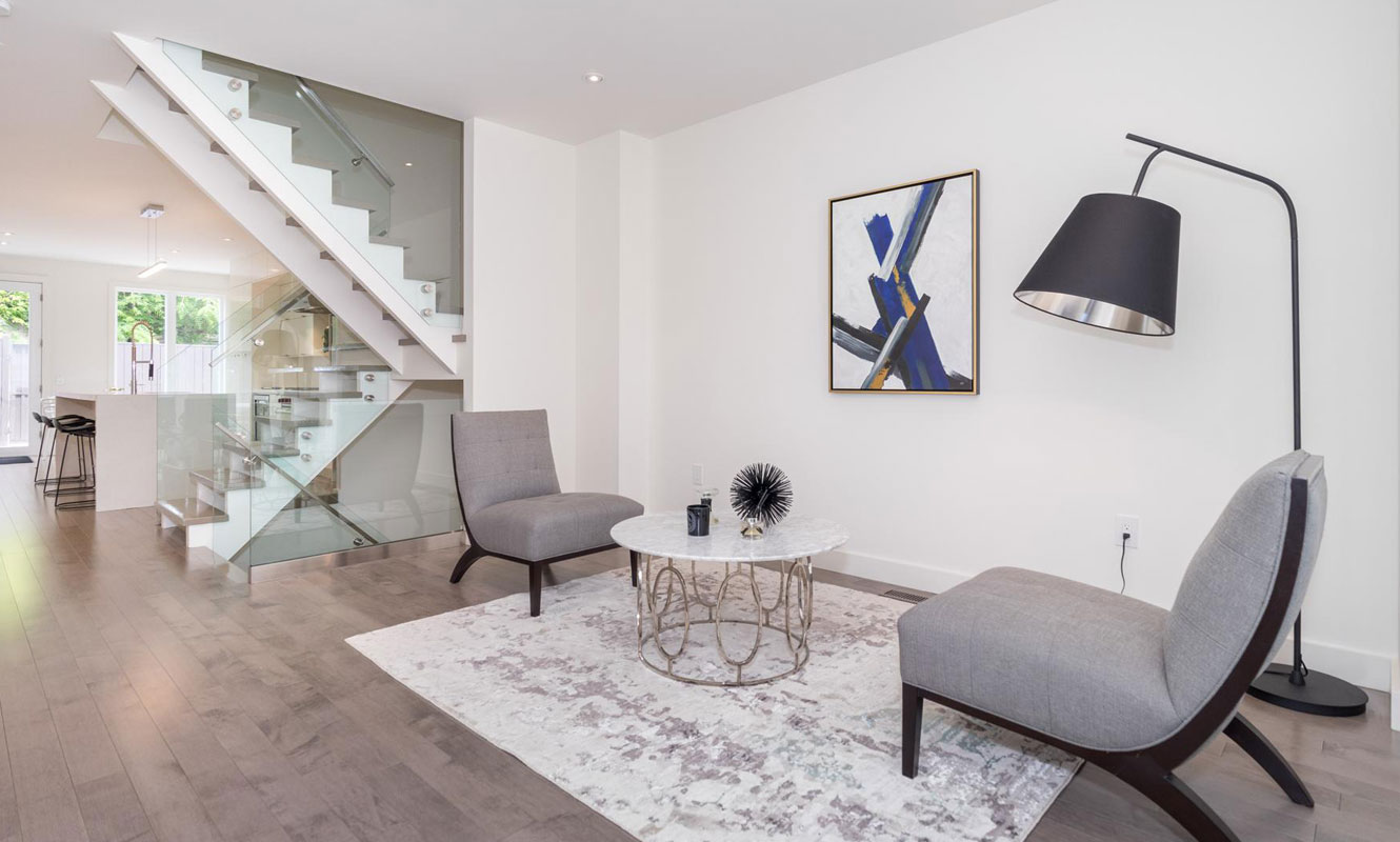 The interior of a modern Summerhill semi-detached home. Listing by agent Boris Kholodov.